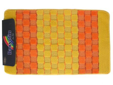 Коврик 60x100 см Banyolin silver желтый