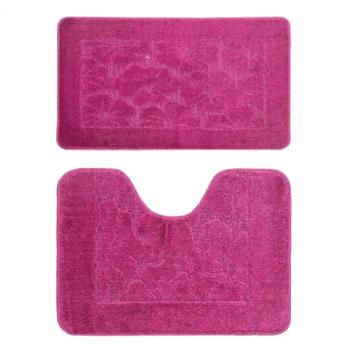Комплект ковриков 50x80 см Banyolin classic бордо (2 шт.)