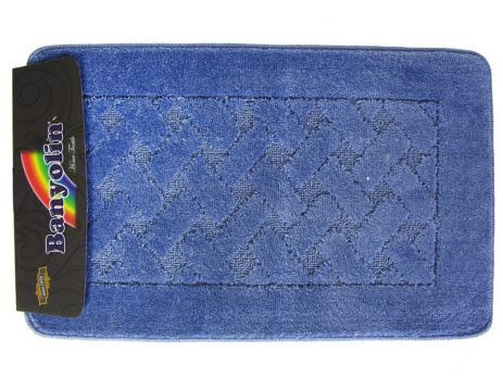 Коврик 50x80 см Banyolin classic Темно голубой
