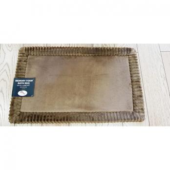 Коврик 50x80 см Memory stripes Comfort Coffee коричневый