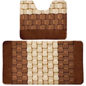 Комплект ковриков 50x80 см Banyolin silver коричневый (2 шт.)