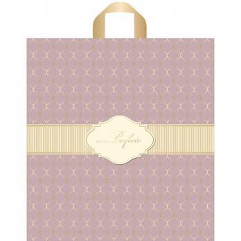 Пакет с петлевой ручкой ПВД 37x40 см Перфекто Деликэтли розовый (1 шт.)