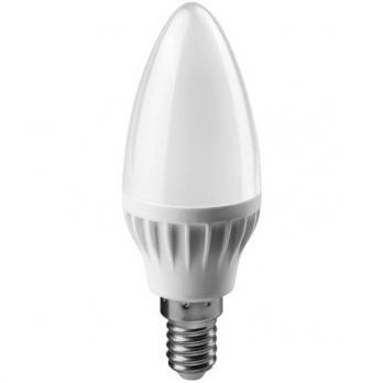 Лампа светодиодная E14 свеча Онлайт 6W 4000K