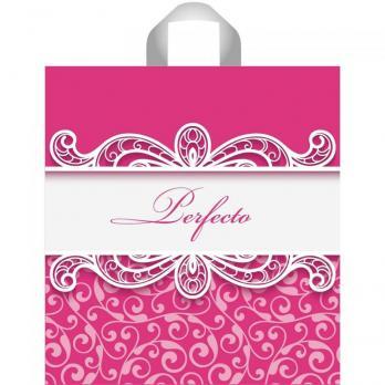 Пакет с петлевой ручкой ПВД 37x40 см Перфекто Пинк ярко-розовый (1 шт.)