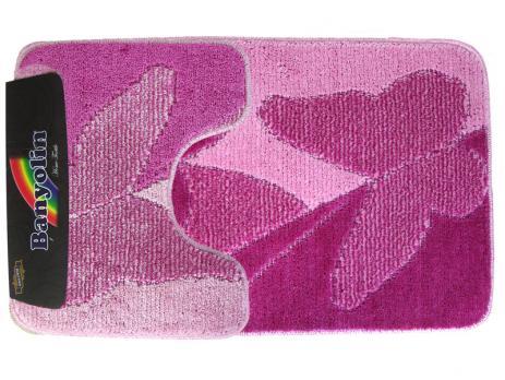 Комплект ковриков 60x100 см Banyolin classic color розовый (2 шт.)