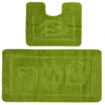 Комплект ковриков 50x80 см Confetti Maximus зеленый (2 шт.)