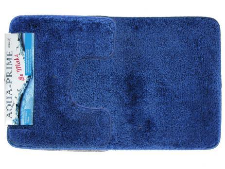 Комплект ковриков 50x80 см Aqua-Prime Be Maks синий (2 шт.)