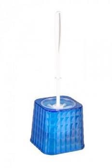 Ерш для унитаза Кристалл с подставкой синий