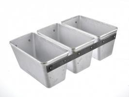 Форма для выпечки хлеба три секции литой алюминий