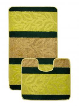 Комплект ковриков 60x100 см Нифертити Авангард зеленый (2 шт.)