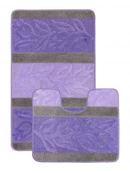 Комплект ковриков 50x80 см Нифертити Авангард фиолетовый (2 шт.)