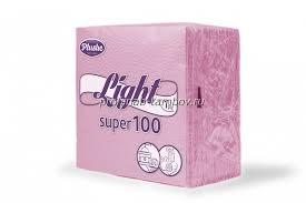 Салфетки Plushe Light Розовые (90 шт.)